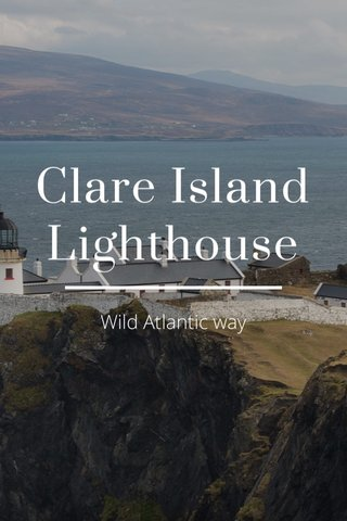 Clare Island Lighthouse Wild Atlantic way