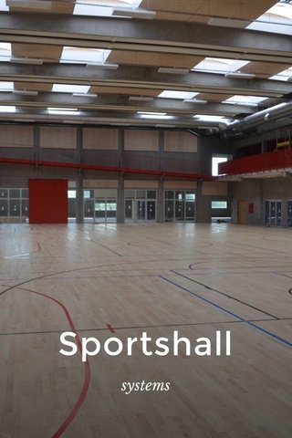 Sportshall systems