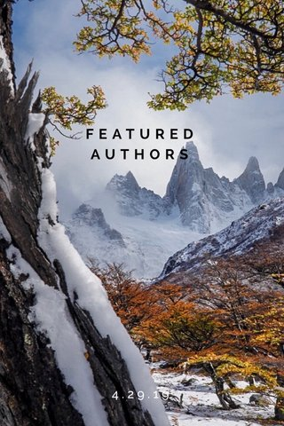 FEATURED AUTHORS 4.29.19