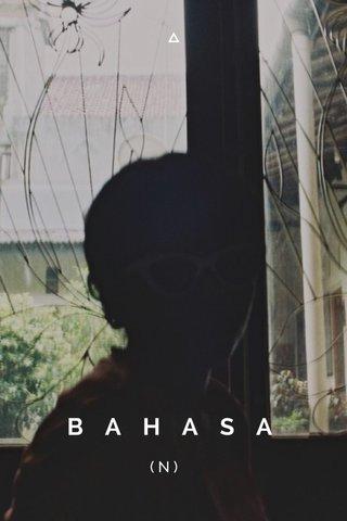 BAHASA (N)