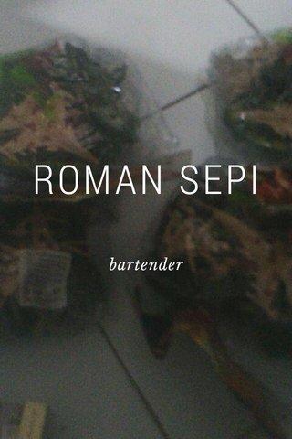 ROMAN SEPI bartender