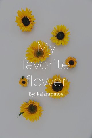My favorite flower By: kalantome4