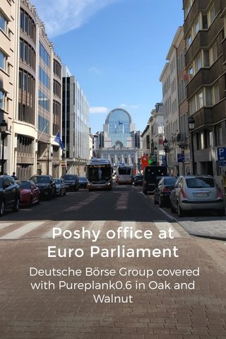 Poshy office at Euro Parliament Deutsche Börse Group covered with Pureplank0.6 in Oak and Walnut