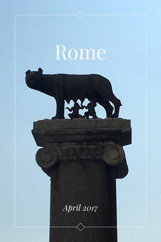 Rome April 2017