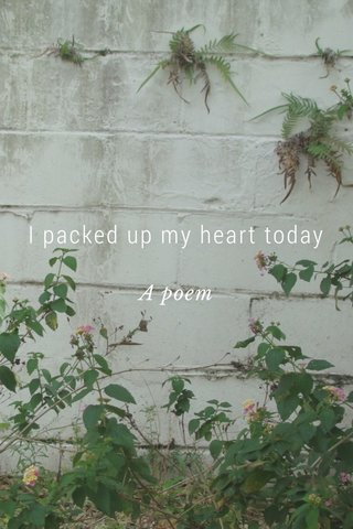 I packed up my heart today A poem