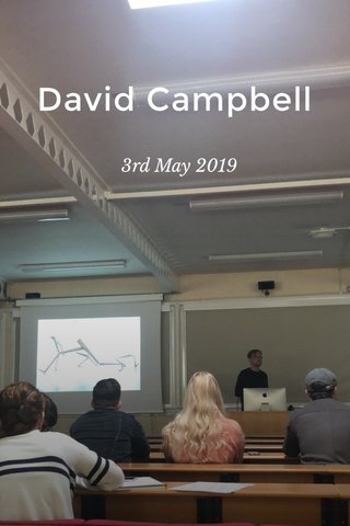 David Campbell 3rd May 2019