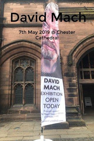David Mach 7th May 2019 @ Chester Cathedral