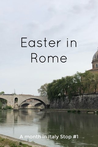 Easter in Rome A month in Italy Stop #1