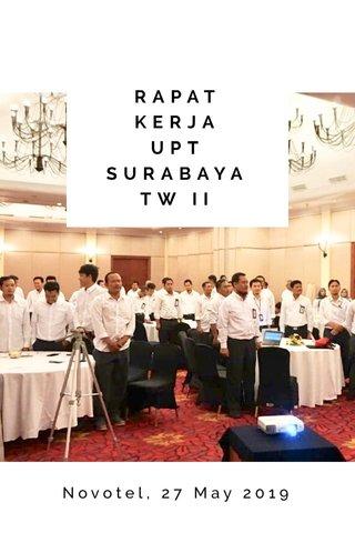 RAPAT KERJA UPT SURABAYA TW II Novotel, 27 May 2019