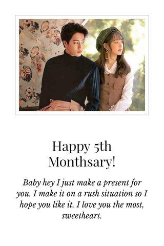Happy 5th Monthsary!
