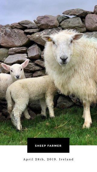 SHEEP FARMER April 28th, 2019. Ireland