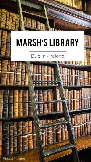 Marsh's Library _______________ Dublin • Ireland #bestofireland