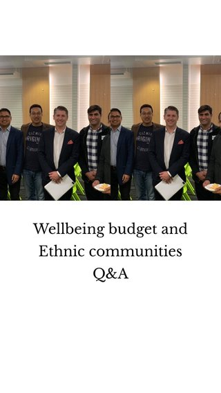 Wellbeing budget and Ethnic communities Q&A