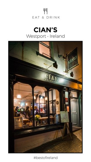 CIAN'S Westport • Ireland #food #bestofireland EAT & DRINK