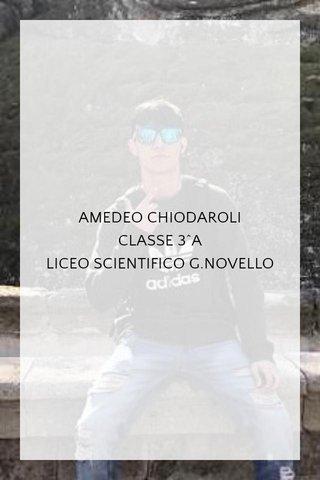 AMEDEO CHIODAROLI CLASSE 3^A LICEO SCIENTIFICO G.NOVELLO