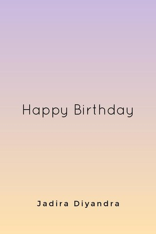 Happy Birthday Jadira Diyandra