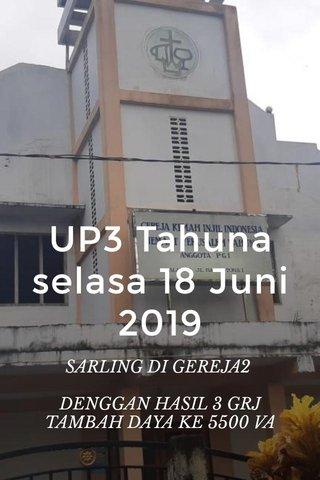 UP3 Tahuna selasa 18 Juni 2019 SARLING DI GEREJA2 DENGGAN HASIL 3 GRJ TAMBAH DAYA KE 5500 VA