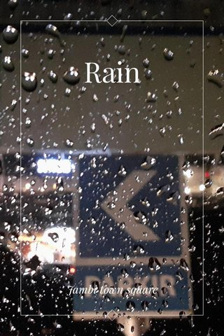 Rain Jambi town square