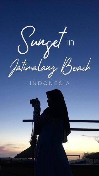 Sunset Jatimalang Beach in INDONESIA