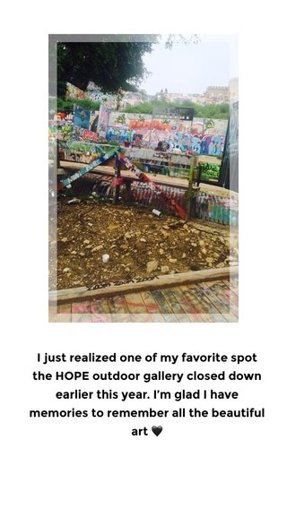 I just realized one of my favorite spot the HOPE outdoor gallery closed down earlier this year. I'm glad I have memories to remember all the beautiful art 🖤