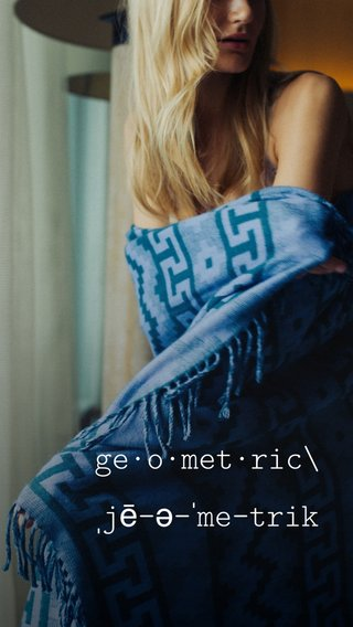 ge·o·met·ric\ ˌjē-ə-ˈme-trik