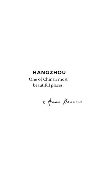 HANGZHOU x Anna Novacco #china #travelblogger #travelstory One of China's most beautiful places.