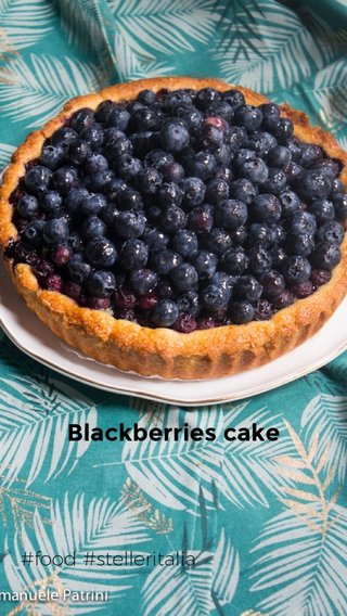 Blackberries cake #food #stelleritalia