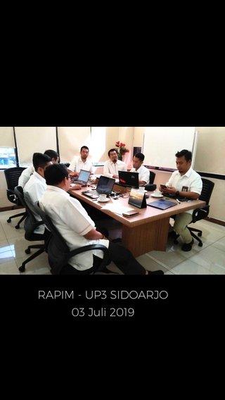 RAPIM - UP3 SIDOARJO 03 Juli 2019