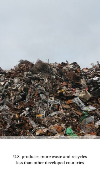 U.S. produces more waste and recycles less than other developed countries
