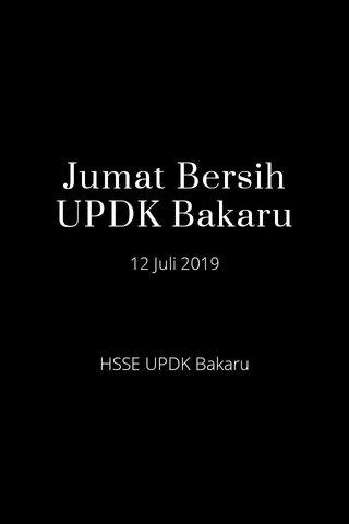 Jumat Bersih UPDK Bakaru