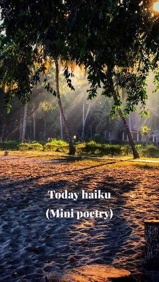 Today haiku (Mini poetry)