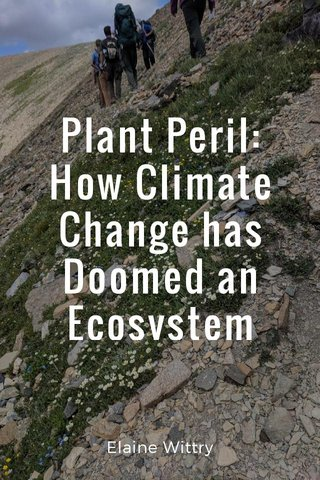 Plant Peril: How Climate Change has Doomed an Ecosystem Elaine Wittry