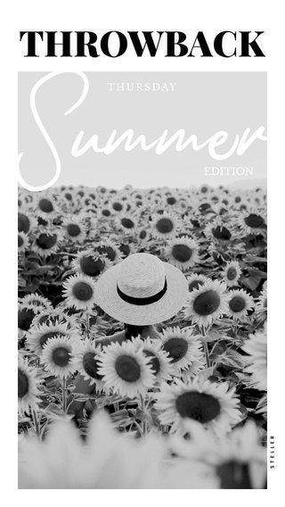 Summer THROWBACK EDITION THURSDAY