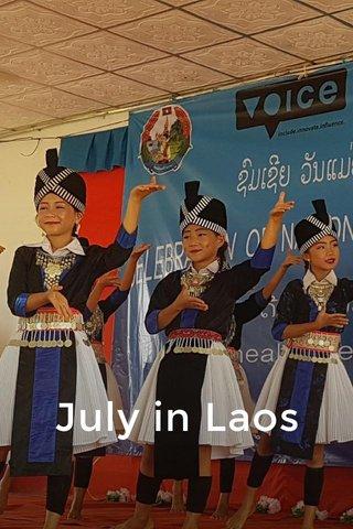 July in Laos