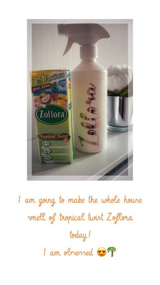 I am going to make the whole house smell of tropical twist Zoflora today! I am obsessed 😍🌴