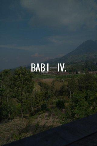 BAB IㅡIV.