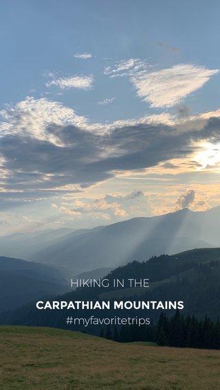 CARPATHIAN MOUNTAINS HIKING IN THE #myfavoritetrips