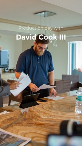 David Cook III Production day with