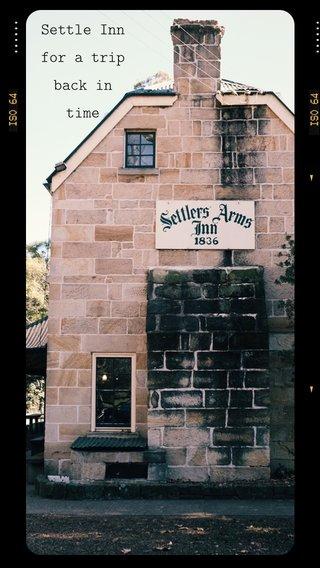 Settle Inn for a trip back in time