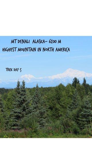 Mt Denali Alaska- 6200 M Highest mountain in North America Trek Day 5