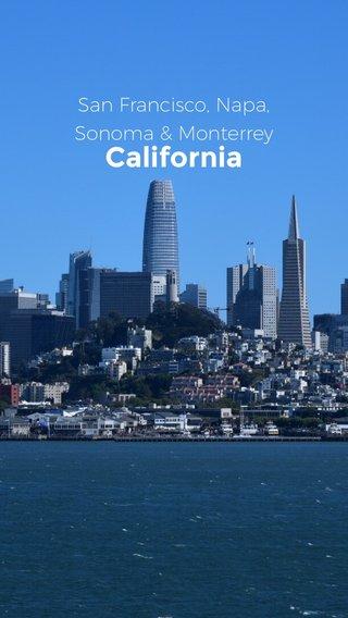 California San Francisco, Napa, Sonoma & Monterrey
