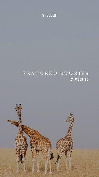FEATURED STORIES Week 33 STELLER //