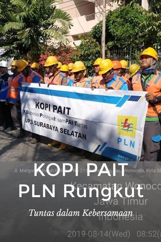 KOPI PAIT PLN Rungkut Tuntas dalam Kebersamaan
