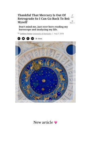 New article 💗