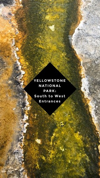 YELLOWSTONE NATIONAL PARK: South to West Entrances