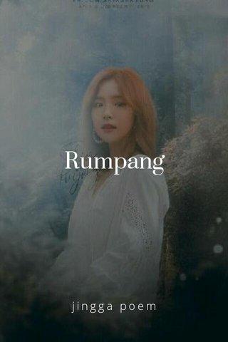 Rumpang jingga poem