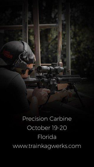 Precision Carbine October 19-20 Florida www.trainkagwerks.com