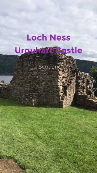 Loch Ness Urquhart Castle Scotland
