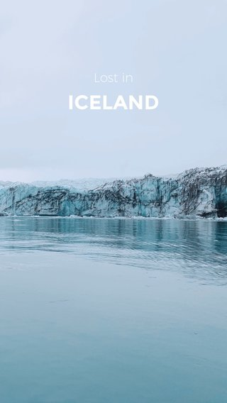 ICELAND Lost in