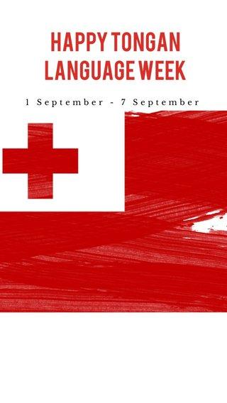 HAPPY TONGAN LANGUAGE WEEK 1 September - 7 September